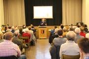 An der Bürgerversammlung von Lichtensteig nahmen 123 oder rund zehn Prozent der 1242 Stimmberechtigten teil. (Bild: Martin Knoepfel)