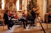 Zusammenspiel auf hohem Niveau: Nicolas Corti, Claudia Muff sowie Armin Bachmann (von links). (Bild: Peter Küpfer)