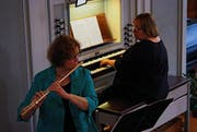 Gleich zweimal Ursula und eine mitreissende Musikalität entzückten bei den Toggenburger Orgeltagen 2013 in Nesslau und Krinau. (Bild: Thomas Geissler)