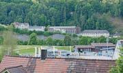 Die Gebäude der Turbo-Separator AG: Eine Fabrikantenvilla, ein Fabrikgebäude und ein moderner Anbau.