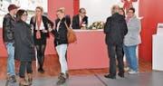 Auch der Präsident des Gewerbevereins St. Margrethen (Mitte) konnte am Stand der Mobiliar viele Interessierte begrüssen.