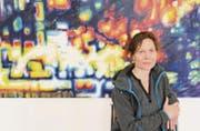 Mit ihren neuen Arbeiten in der Ausstellung «Spektrale» geht die St. Galler Künstlerin Beatrice Dörig einen «kräftigen» Schritt weiter. (Bild: Martin Preisser)