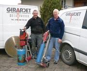 Hansueli Haltinner (links) hat die Firma Girardet übernommen. Fritz Girardet wird seinem Nachfolger bis zur Pensionierung unterstützend zur Seite stehen. (Bild: ste)