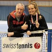Trainer Thomas Walter und sein Schützling Alina Granwehr befinden sich in einem Dauerhoch. (Bild: Swiss Tennis)