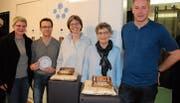 Das Team hinter dem «Zwingli Code» (von links): Sabine Kutzelmann, Thomas Boos, Beatrice Straub, Symela Müller-Mystakidis und Michael Burtscher. (Bild: Noëlle Lee)