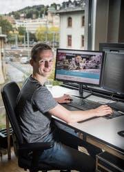 Manuel Allenspach wusste schon früh, dass er Programmierer werden wollte. (Bild: Ralph Ribi)