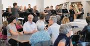 Die Musikgesellschaft Bichwil-Oberuzwil umrahmte die Einweihungsfeier im neuen Aufenthaltsraum.