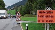 Noch ein wenig Geduld ist gefordert. Doch schon bald sind die langjährigen Bauarbeiten auf der Zufahrt vom Rheintal ins Obertoggenburg Geschichte. (Bild: Hanspeter Thurnherr)