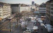Das Stimmvolk hat 2011 und 2015 die Neugestaltung von Marktplatz, Bohl und Blumenmarkt abgelehnt. (Bild: Benjamin Manser (7. März 2015))