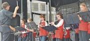 Gut gespielt, obwohl wegen des Weissen Sonntags ein paar Kinder der Kadettenmusik gefehlt haben.