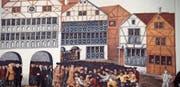 Die Verteilung von Münzen provozierte Tumulte und wurde bald wieder abgebrochen. (Bild: Peter Küpfer)