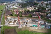 Die Grossbaustelle im Mai 2016. (Bild: www.zebra.ch)