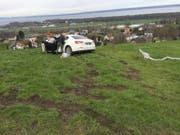 Das Auto blieb unbeschadet. (Bild: Kapo SG)