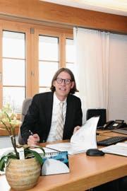 Christian Gertsch hat sich als Gemeindepräsident von Hemberg gut eingelebt. (Bild: Urs M. Hemm)