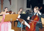 Freude am Musizieren: Das Trio Fontane mit Noelle Grüebler (Violine), Andrea Wiesli (Piano) und Jonas Kreienbühl (Cello). (Bild: fo)