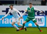 Zwei Tore gegen Basel: Cedric Itten (rechts) ist definitiv beim FC St.Gallen angekommen. (Bild: Keystone)