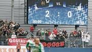 In seinem bislang letzten Olma-Heimspiel spielte der FCSG im Cup als Gastclub und verlor 0:2 gegen Gossau. (Bild: Philipp Baer (21. Oktober 2007))