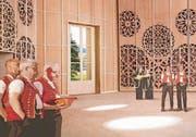 Blick ins Innere des geplanten und nun abgelehnten Klanghauses Toggenburg. (Bild: Visualisierung: pd)