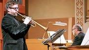 Abwechslungsreiches Bettagskonzert mit Herbert Walser, Trompete, und Franz Pfab, Orgel. (Bild: Max Pflüger)
