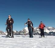 Die Turner genossen das gute Wetter und die Berglandschaft. (Bild: PD)