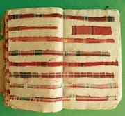 Ein Kreuz und Quer von Blau-Rot-Weiss aus Jacob Loosers Musterbuch von 1814. (Bilder: PD)