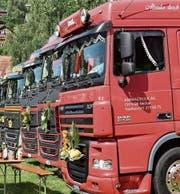 Im Zentrum der Trucker Chilbi standen natürlich Lastwagen, die von den Chauffeuren geschmückt worden waren. (Bilder: Beatrice Bollhalder)