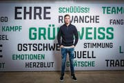 """""""Schüüüss!"""" – Cedric Itten will dies auch für den FC St. Gallen tun, vorläufig bis im Sommer. (Bild: Urs Bucher)"""
