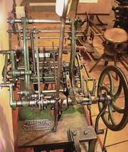 Diese Stickmaschine steht am Sonntag im Einsatz. (Bild: pd)