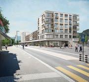 Die Überbauung Bahnhof-Süd in Wattwil wird jetzt an beiden Enden höher ausfallen als ursprünglich geplant. (Bild: PD)