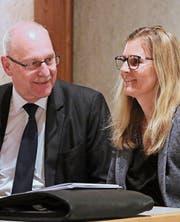 Präsident Walter Kobelt leitete die Versammlung, Aktuarin Aurelia Fischer machte das Protokoll. (Bild: pd)