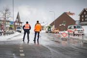 Grosseinsatz der Polizei nach den Schüssen in Rehetobel. (Bild: Urs Bucher)