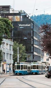 Vontobels neuer Schriftzug ziert bereits die Zentrale in Zürich. (Bild: PD)