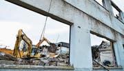Die ehemalige Kultur-Eventhalle Xang ist ein Schutthaufen (Bild: Max Eichenberger)
