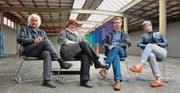 «Einzigartiger Raum»: Der Kunsthalle-Vorstand mit Martin Bischof, Inge Abegglen, Claudius Krucker (Präsident) und Rebecca Duvoeker. Es fehlt auf dem Bild Deborah Keller. (Bild: Max Eichenberger)