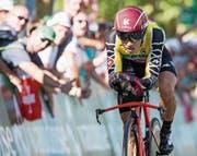Simon Spilak gewinnt zum zweiten Mal nach 2015 die Tour de Suisse. (Bild: Alexandra Wey/KEY)