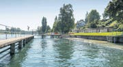 Serie Gutes Bauen in der Ostschweiz. Freibad Rodenbrunnen am Rheinufer. (Bild: Hanspeter Schiess)