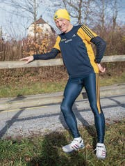 Zu Werner Hirschis Laufstrecken gehört auch jene rund ums Schloss Oberberg. (Bild: Urs Bucher)