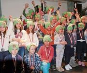 JO Rennen des SBC Gonzen: Strahlende Gesichter nach grossem Einsatz auf der Piste. (Bild: PD)