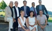 Der Vorstand: Othmar Kehl, Erich Dasen, Gallus Pfister (Präsident), Urs Kellenberger, Sandro Agosti sowie Eliane Widin, Monika Bodenmann, Rolf Geiger (vordere Reihe). (Bild: PD)
