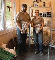 Auch Ruth und Edi Tanner bieten ihre Produkte Markt in Heiden an. (Bild: pab)