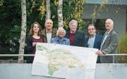 Für den Richtplan: Nina Schläfli, Ulrich Müller, Regula Streckeisen, Robert Meyer, Wolfgang Ackerknecht, Toni Kappeler. (Bild: Andrea Stalder)