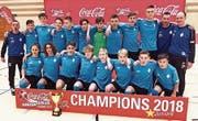 Die C-Junioren des FC Rorschach-Goldach 17 sind die Futsal-Meister der Coca-Cola Junior League. (Bild: zVg)