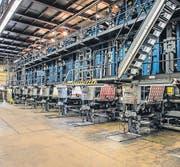 Die Maschinen sind auf mehrere Stockwerke verteilt. (Bild: pd)