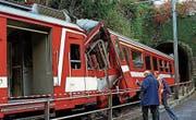 An den beiden Zügen entstand Schaden von rund einer Million Franken. (Bild: Regina Kuehne/KEY)