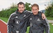 Noch ist dem Trainerduo Hansueli Gerig (links) und Benjamin Fust das Lachen nicht vergangen. (Bild: Beat Lanzendorfer)