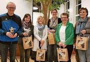 Der Vorstand: Daniel Mörgeli, Pia Sutter, Esther Paliwoda, Brigitte Hascher, Elisabeth Hefti, Regula Friederich und Sandra Patonay. (Bild: PD)