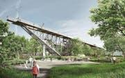 Geld für «Wunderbrücke» (Bild: Visualisierung: PD)