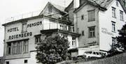 Zu den attraktiven Ausflugsrestaurants im Vorderland gehörte der «Rosenberg» ob Walzenhausen, der im Februar 1998 einem Privathaus zu weichen hatte. (Bild: PE)