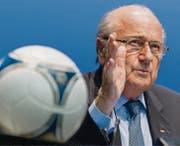 Der 79jährige Sepp Blatter kandidiert für eine fünfte Amtszeit an der Spitze des Weltfussballverbandes. (Bild: ky/Alessandro Della Bella)