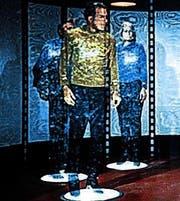 Captain Kirk wird gebeamt. (Bild: pd)